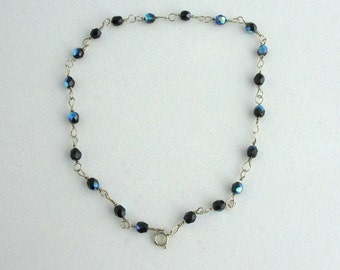 Glass Bead Anklet. Listing  40579483