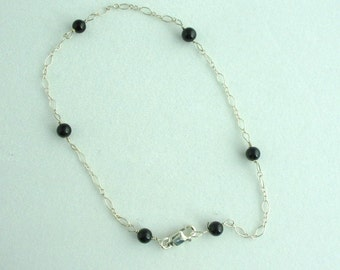 Glass Bead Anklet. Listing 46292594