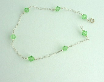 Glass Bead Anklet. Listing 46411337