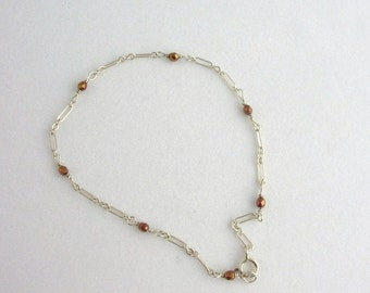 Glass Bead Anklet. Listing 46412912