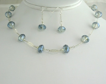 Glass Bead Necklace Set. Listing  53307933