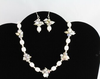 Freshwater Pearl Necklace Set. Listing 56674360