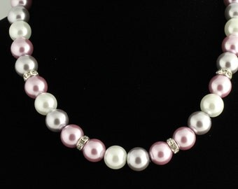 Glass Pearl Necklace. Listing 58914111