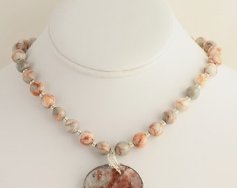 Marble/Quartz Necklace. Listing  60886686