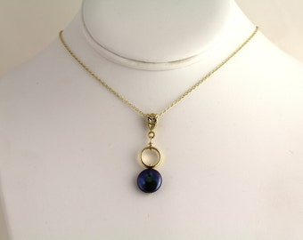 Freshwater Coin Pearl Pendant. Listing  65438955
