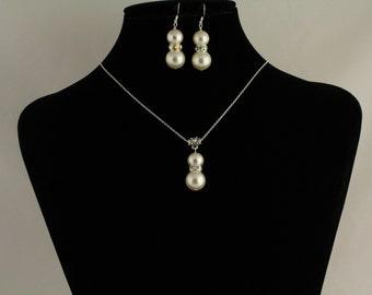 Swarovski Pearl Pendant Set. Listing  74361274