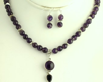 Faceted Amethyst Necklace. Listing 84345127