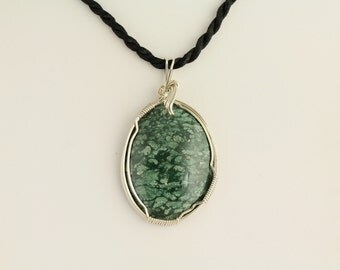 Green Jasper Pendant. Listing 85204623