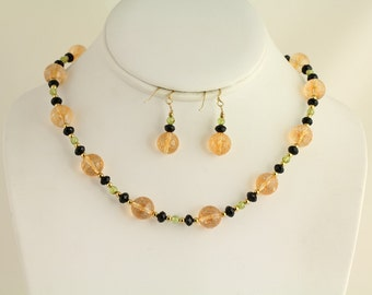 Gemstone Necklace. Listing 87543534