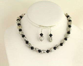 Glass Bead Necklace Set. Listing 88678938