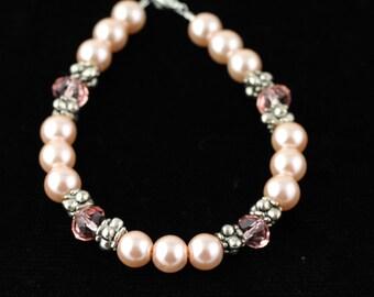 Glass Pearl Bracelet. Listing 102071707
