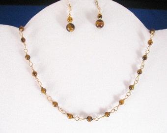 Tiger Eye Necklace. Listing 19652516