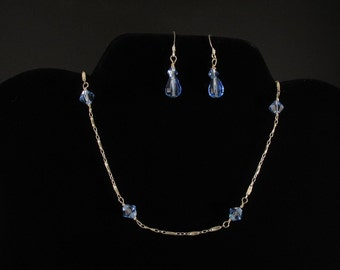 Crystal and Glass Necklace. Listing  21587354
