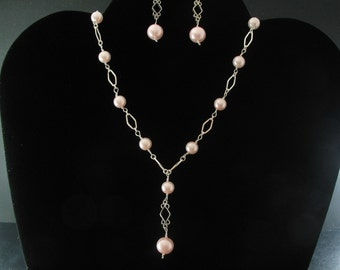 Bridal Pearl Necklace Set. Listing  25715482