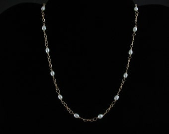 Freshwater Pearl Necklace. Listing 28761273