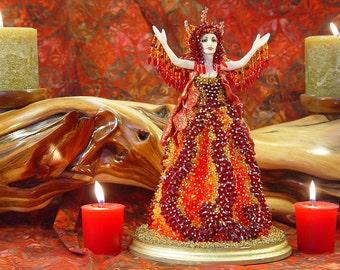Flame Swarovski Art Doll, Fire Mountain Gems SWAROVSKI CRYSTAL Contest 2012 Winner, SILVER Medal