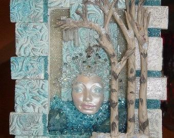 Winter Wonders Nature Spirit Shrine / Shadow Box