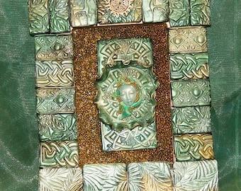Green Lady Shrine Shadow Box Celtic