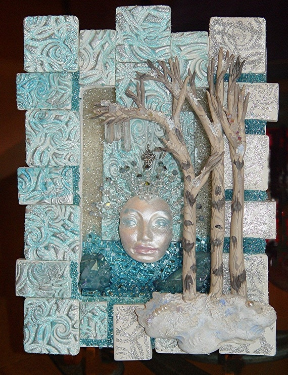 Winter Wonders Nature Spirit Shrine / Shadow Box