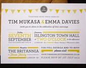 Tim & Emma Wedding Invitations