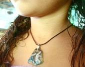 Mermaid Necklace-Jewelry for Girls- Hand Painted - Custom Color
