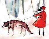 little red riding hood -8.5x11 print