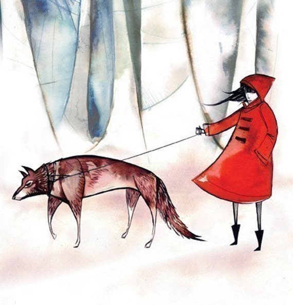 little red riding hood -8.5x11 print