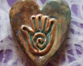 Clay Heart with Healing Hand