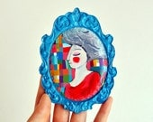 OOAK Colors neon girl wall hanging decoration sculpture and home decor