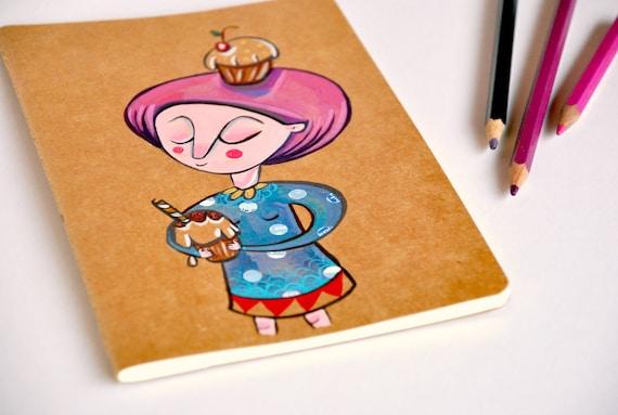 moleskine journal cupcakes love