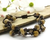 Picture Jasper Knotted Leather Bracelet