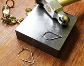 Work in Progress : A glimpse at my home studio / artisan hand forged earrings /  grey neutral clear rustic