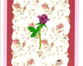 Scalloped Victorian Rose Card