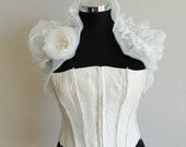 Ivory Wedding Stole&Shrug With Pearl Roses