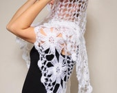 Super Sale, White Floral Shawl in Trends,High Fall Fashion,Best Colour,Most Populer ,For The Lovely Gift Mothers Day