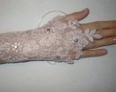 2012 Trends,Soft Pink Lace Gloves for Women,For Wedding Day,Spring Fashion,Bridal Gloves,Fingerles, Wedding Gloves,ROMANTIC,Lace Gloves
