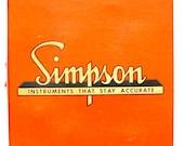Vintage Simpson Box Only Orange Midget Tester Model