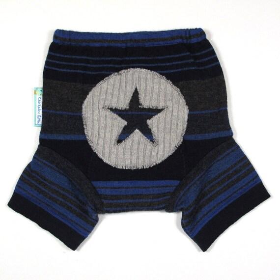 Wool Shorties Diaper Cover - ALL STAR- Medium 9-18M
