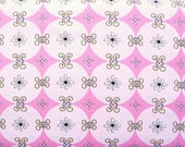 Dena Designs, Snow Flower, Snow Diamond in Pink - 1 Yard Clearance
