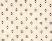 Beth Fuller for Blue Hill Fabrics, Graces Dowry Shirtings, Navy Blue on Cream 7186.7 - 1/2 Yard