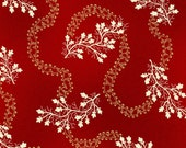 Sara Morgan for Blue Hill Fabrics, Saras Stash, Meandering Vine in Red 7412.2 - 1 Yard Clearance