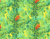 Tina Givens, ZaZu, Large Petals in Teal - 1 Yard Clearance
