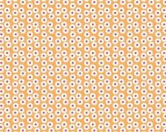 Riley Blake, Summer Song, Summer Mini Blooms in Orange C7055 - 1 Yard - Clearance