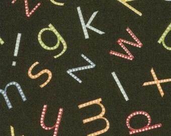 Moda, American Jane for Moda, Punctuation, Alphabet in Black 21403.17 - 1 Yard Clearance