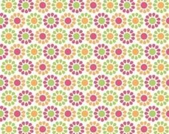 My Minds Eye for Riley Blake, Summer Song, Summer Blooms in Orange C7054 - 1/2 Yard