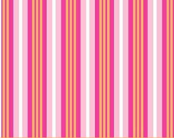 Melanie Hurlston for Windham, Stripe in Pink  (32078-3) - 1/2 Yard