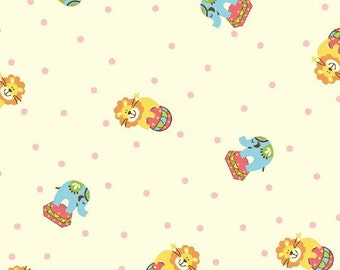 Whistler Studios for Windham, Zoo Babies, Animals in Pink 31287-2 - 1 Yard Clearance
