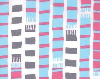 Aneela Hoey for Moda, Sherbet Pips, Scarf Stripe in Pink Lemonade 18504.12 - 1/2 Yard