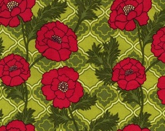 Patty Young for Michael Miller, Mezzanine, Secret Garden in Lime DC4128 - 1 Yard Clearance