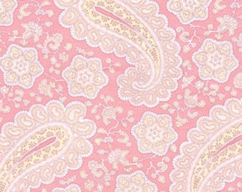Annette Tatum, Fall House, Paisley in Coral AT38 - 1 Yard